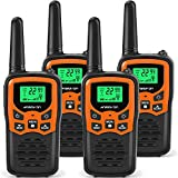 ANSIOVON Walkie Talkies for Kids Long Range 2-Way Radios Up to 5 Miles Range in Open Field 22 Channel FRS/GMRS Kids Walkie Talkies UHF Handheld Walky Talky (4 Pack)
