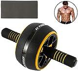 NBALL-TT Rouleau Roue Abdominale Multifonctionnel Body Fitness appareils de Musculation avec Le Genou très épais Tapis pour Home Gym Formateur