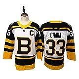 NHICR Camisetas de hockey sobre hielo para hombre, camisetas de abanico de hockey, transpirables, camisetas de manga larga, ropa deportiva, color blanco, talla M