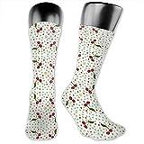 Dydan Tne Cherries 1 Giftwrap (3476) Dress Socks - Bunte Funky Socken