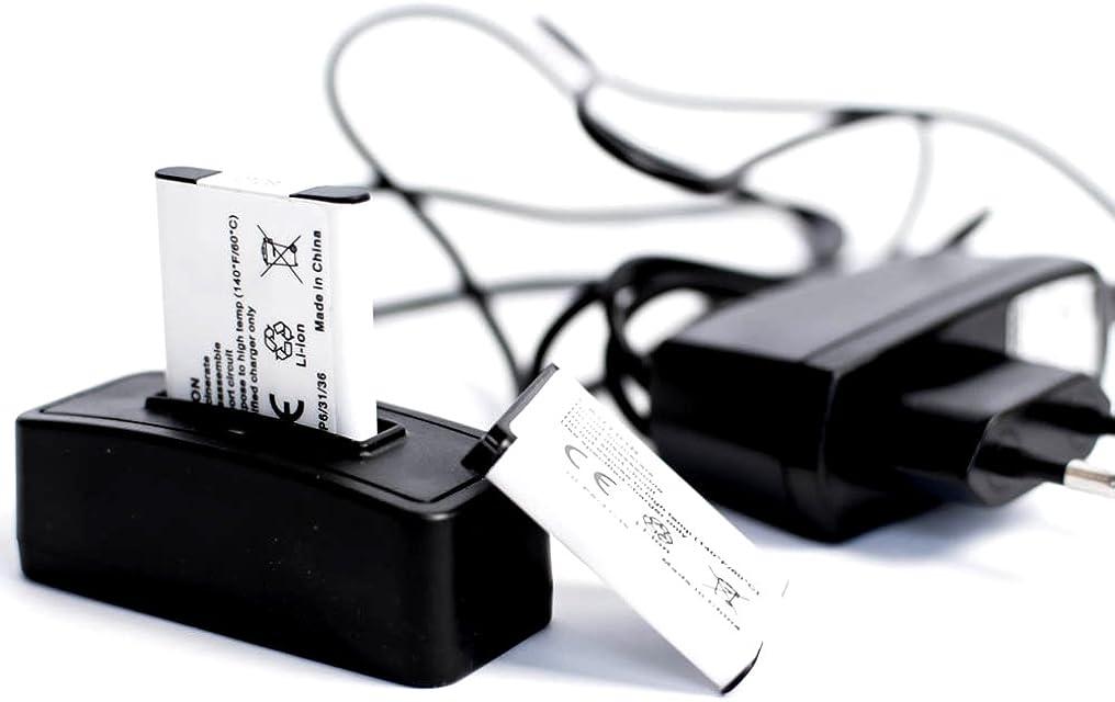 roxs Set de carga 750mAh para pentax optio A40 S10 VS20
