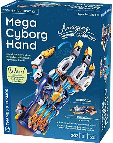 Thames Kosmos Mega Cyborg Hand STEM Experiment Kit Build Your Own Giant Hydraulic Hand Amazing product image