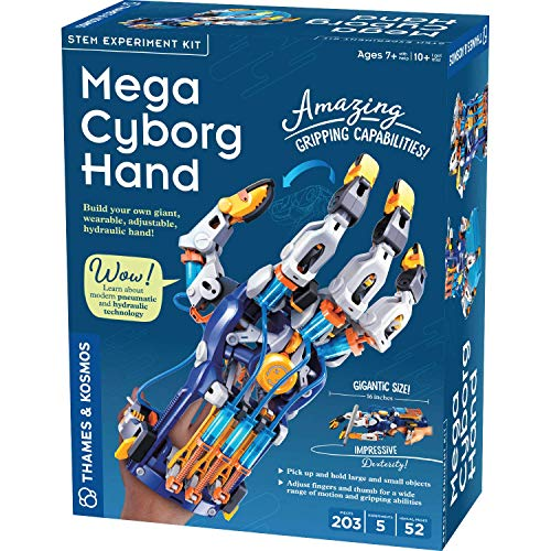 Thames & Kosmos Mega Cyborg Hand STEM Experiment Kit | Build Your Own Giant Hydraulic Hand | Amazing Gripping Capabilities | Adjustable for Different Hand Sizes | Learn Hydraulic & Pneumatic Systems