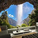 Tapeten Wandbilder,Wasserfall Blauer Himmel Landschaft Foto
