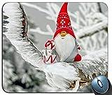 Rutschfestes Gummi Komfortables, individuelles Computer-Mauspad Mausmatten-Mauspad, Weihnachtsmann-Figur 895 Personalisiertes Rechteck-Mauspad