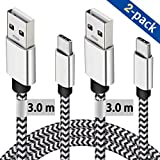 USB C Cable 3M, 2 Pack Type C Charging Cable 10ft Certified