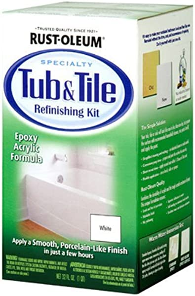 Rust Oleum 7860519 Tub And Tile Refinishing 2 Part Kit White