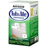 Rust-Oleum 7860519 Tub and Tile Refinishing 2-Part Kit, White, 32 oz