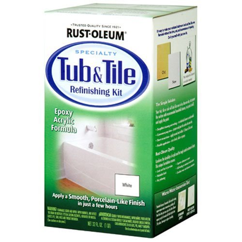 Rust-Oleum 7860519 Tub and Tile Refinishing 2-Part Kit, White