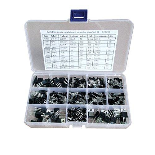 perfeclan Juego de 370 Piezas de Accesorio de Transistor de Potencia de Componente Electrónico