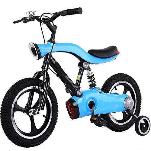 Bicicleta para Niños De Aleación De Aluminio De 12-16 Pulgadas con Luces, Rueda Auxiliar Y Pedales, Regalos De Primer Cumpleaños para Niños En Bicicleta,A,14