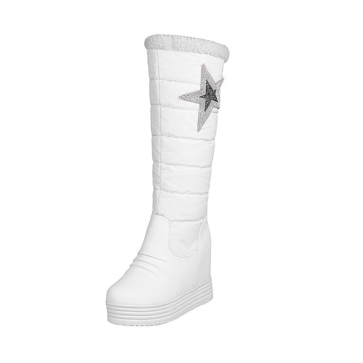 マイルド英語の授業があります木材(ウンファッション) WeenFashion 女性用 星 インヒール 長靴
