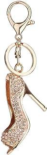 Luxurious Rhinestone High Heels Keychain Women Bag Handbag Key Ring Car Key Holder Pendant Jewelry Delicate Keychain Jewelry