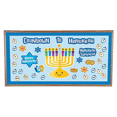 Fun Express Countdown to Hanukkah Bb Set - 90 Pieces - Educational and Learning Activities for Kids