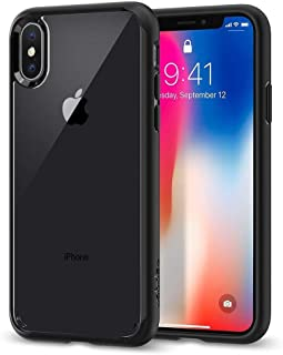 Spigen iphone X Case, Ultra Hybrid Clear, Black Frame
