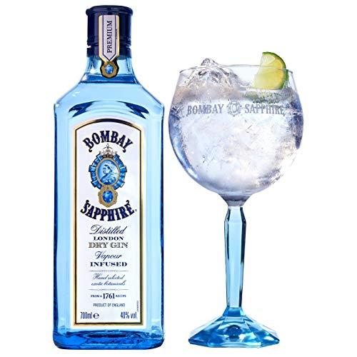 Bombay Sapphire London Dry Gin Geschenkpackung mit Glas (1 x 0.7 l)