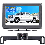 DoHonest S01 HD 1080P Car Backup Camera and Monitor kit for Front/Rear View License Plate Reverse Camera,Easy Installation for Cars,Trucks,Campers,SUVs,IP69 Waterproof Night Vision DIY Guide Lines