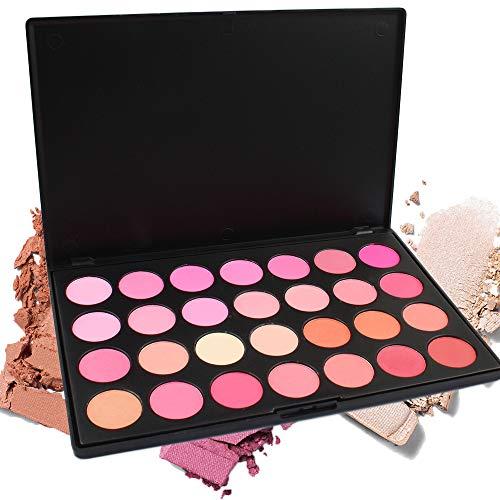 PhantomSky 28 Colores Cara Polvos Coloretes/Blush Paleta de Maquillaje Cosmética - Perfecto para Uso Profesional y Diario