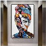 ZXYFBH Cuadros Decoracion Salon Street Graffiti Wall Art Pictures Impresiones en Lienzo Abstract Pop Art Girls Lienzos para decoración del hogar Sin Marco 15.7x19.7in (40x50cm) x1pcs Sin Marco