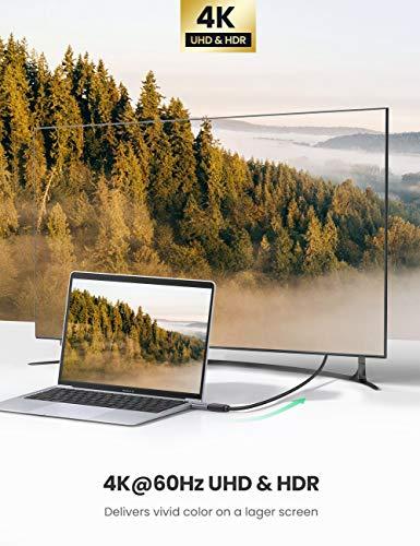 UGREEN USB C zu HDMI Adapter 4K 60Hz USB-C auf HDMI Adapter kompatibel mit Thunderbolt 3 Typ C auf HDMI Adapter kompatibel mit MacBook Pro 2020, MacBook Air 2019, iPad Pro 2020, Dell XPS 13 usw.