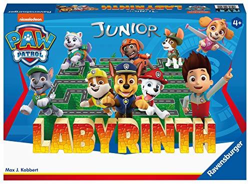 Ravensburger Kinderspiele Paw Patrol Labyrinth, 20799, das bekannte Brettspiel von Ravensburger als Junior Version für Kinder ab 4 Jahren