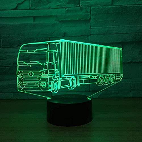 XLLQYY Lámpara de ilusión 3D LED de luz de noche mejor 7 colores cambiante automático interruptor táctil lámparas decoración de escritorio regalo de cumpleaños acogedor y muy hermoso coche