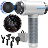 Massage Gun-Deep Tissue-Muscle Massage Gun w/ Percussion Count Display for Athletes, Handheld Percussion Massager Gun for Pain Relief, LCD Touch Screen, 6 Speeds Brushless Motor by ATHPHY