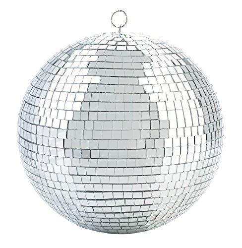 Bola de discoteca de 8 pulgadas con diseño de fiesta – Cool and Fun Silver colgante bola de discoteca efecto iluminación – Decoración para fiesta grande