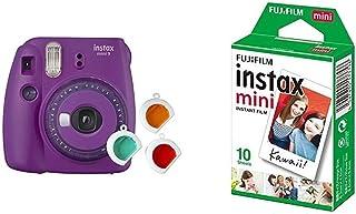 Fujifilm Instax Mini 9 - Cámara instantanea, Morado + Pack de 10 películas