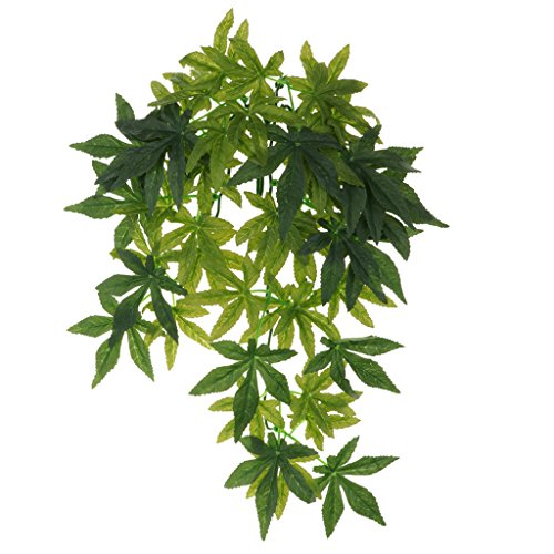 petsola Enredadera Trepadora Planta Artificial Realista para Ranas Lagartos - Tipo 2-40CM