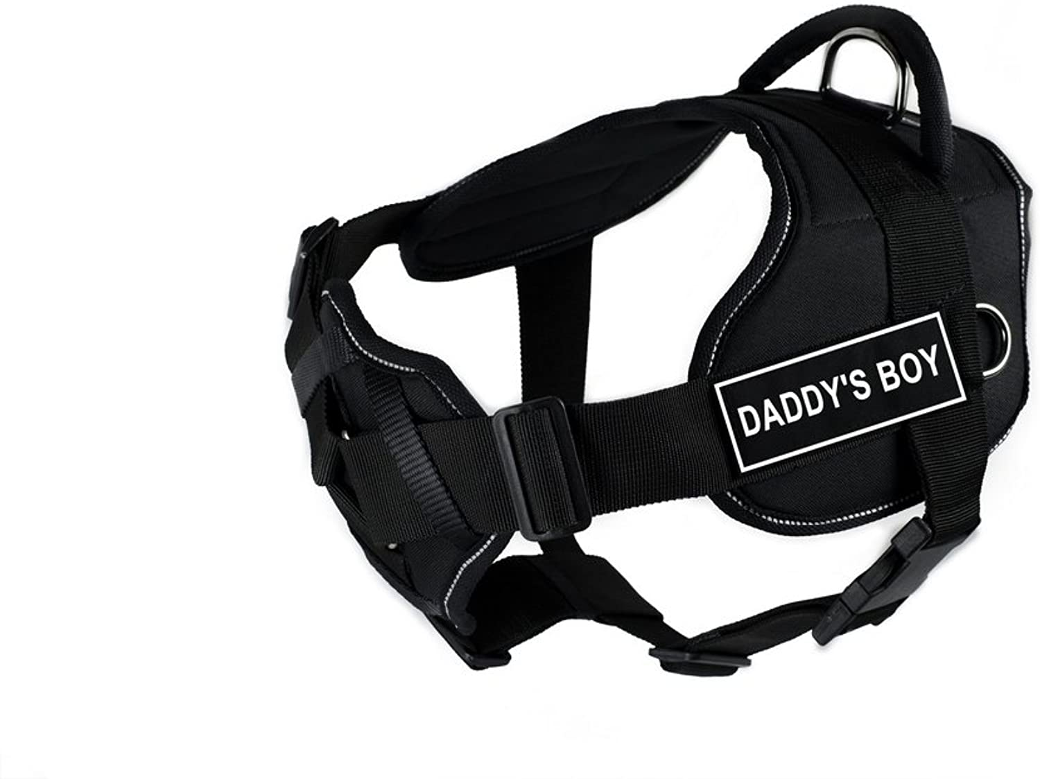 Dean & Tyler 28 to 34Inch Daddy's Boy Fun Harness with Padded Chest Piece, Medium, Black
