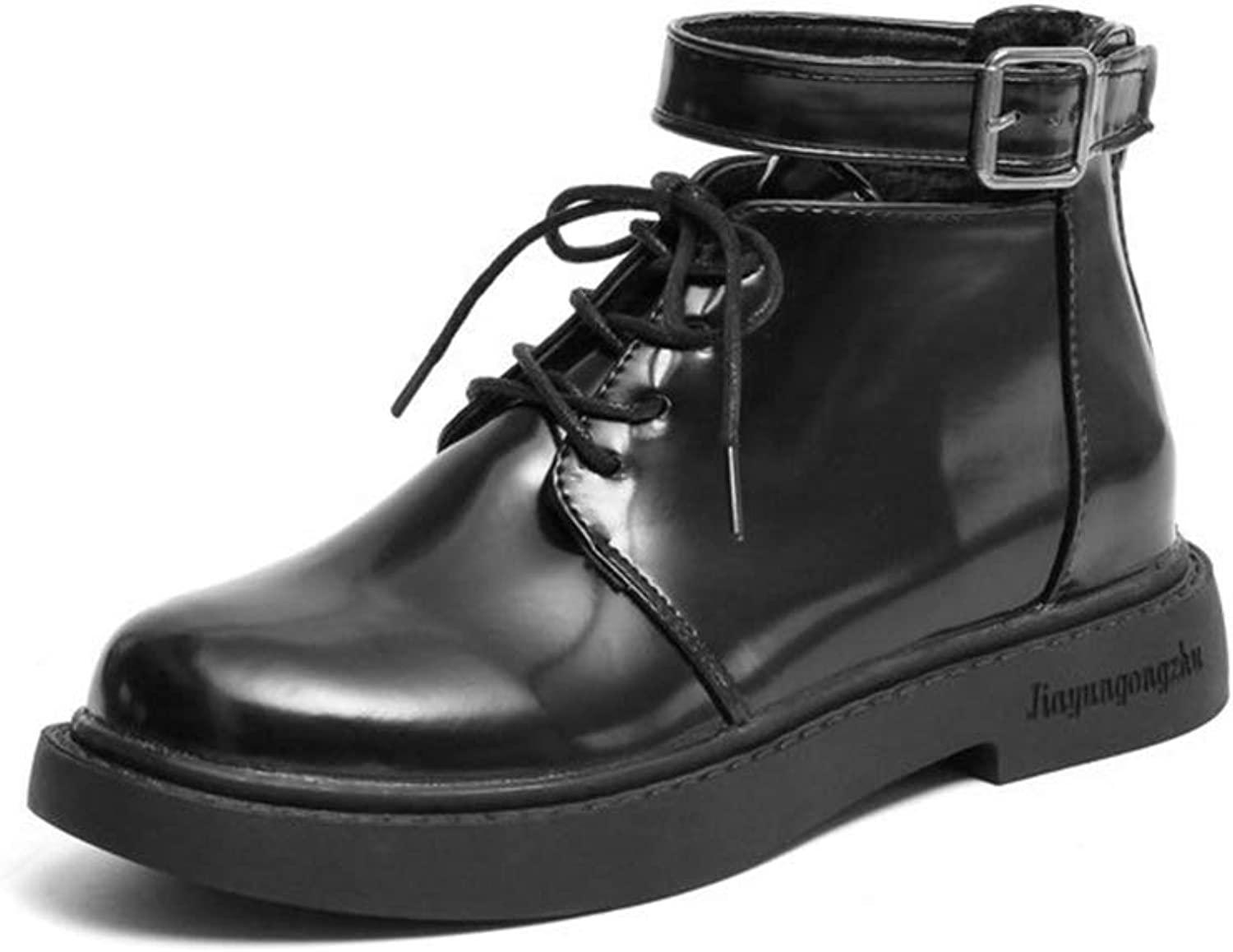 A-LING Women's Lace Up shoes Motorcycle Boots Martin Boots