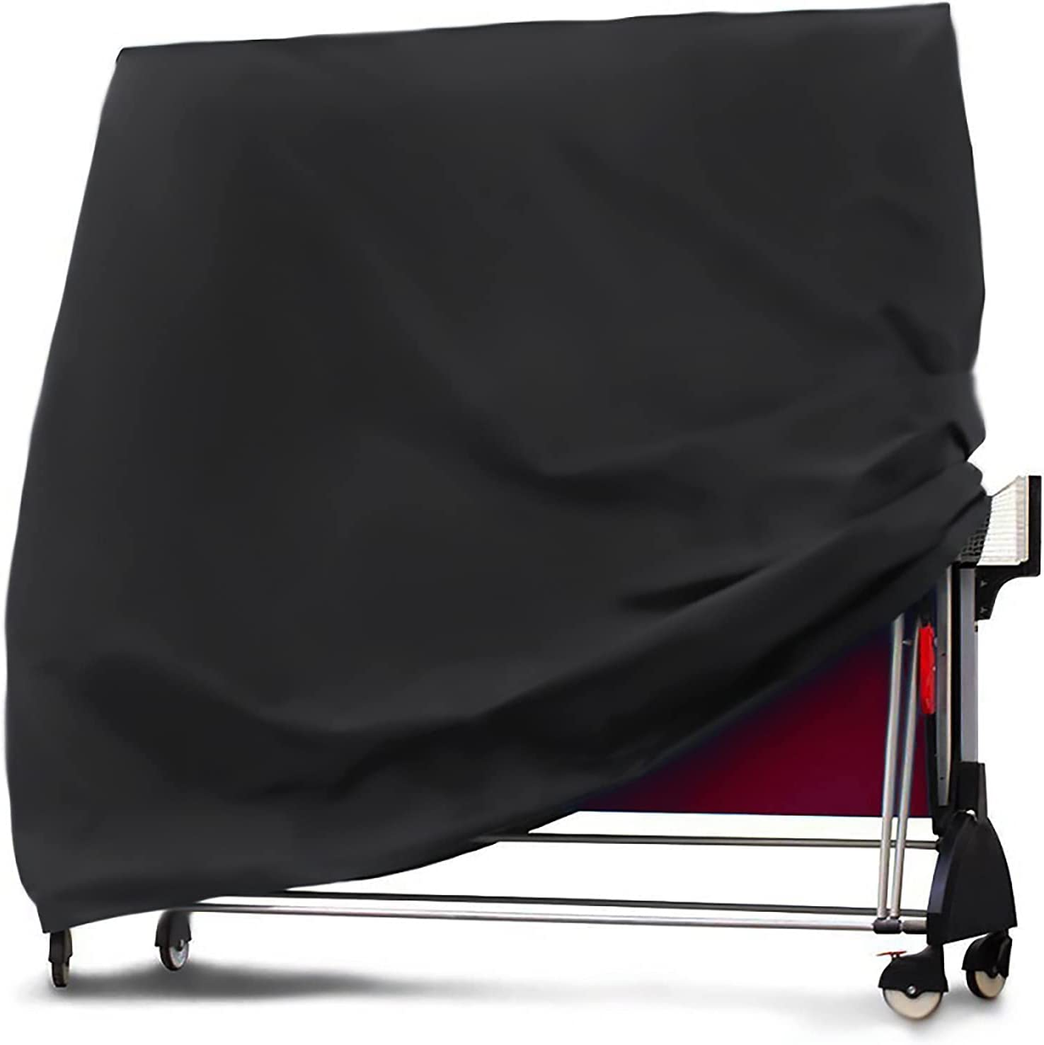 Cubierta de Mesa de Ping Pong Impermeable A Prueba de Viento Anti-UV - Tabla de Tenis de Mesa de Trabajo Resistente a Prueba de Viento, 165 × 70 × 185 cm