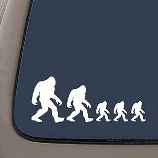 NI273 Bigfoot Sasquatch Family Stick Figure Decal Sticker   7.5-Inches by 3-Inches   Premium White Vinyl Decal