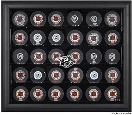 Mounted Memories Nashville Predators Black Framed 30 Hockey Puck Logo Display Case