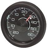 Thermomètre d'intérieur rond et noir