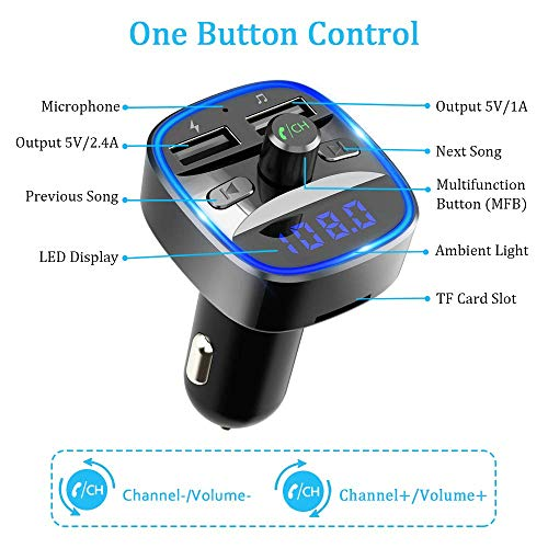 Bovon Bluetooth FM Transmitter