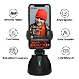 Yuuzz Portable Selfie Stick, 360°Rotation Auto Face Object Tracking Smart Shooting Camera Phone Mount, Vlog Shooting Smartphone Mount Holder, Compatible with Android and iOS (Style A)