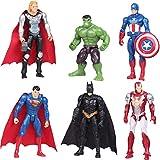 Cake Decoration - YUESEN 6Pcs Figuras de héroe Cake Topper Juguete de Figura Mini Juego de Figuras N...