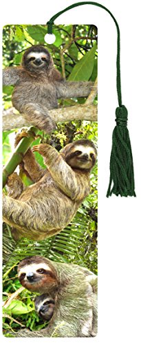 BKMK-SLOTHS 3-D BOOKMARK