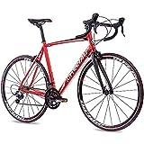 Chrisson Vélo de route 28' – Reloader rouge 59 cm avec dérailleur Shimano Sora 18 vitesses –...