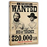 Terence Hill Bud Spencer Leinwand - Wanted $20.000 - Die