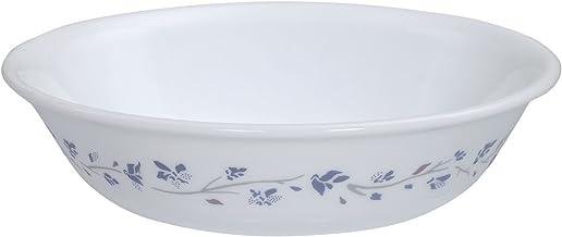 Corelle Lilac Blush Glass Dessert Bowl Set, 290ml/5.5cm, Set of 6, White and Blue