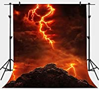 HD 7x10ft Hell Clouds Lightning Backdrop for Hellboy Theme Photography Background Vinyl Studio Props LYPH17310