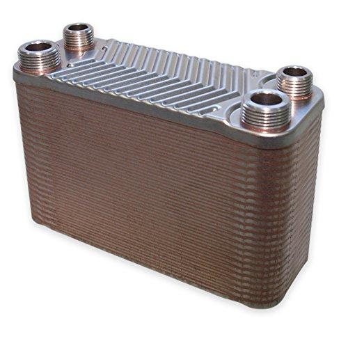 Preisvergleich Produktbild Hrale Edelstahl Wärmetauscher 50 Platten max 90 kW Plattenwärmetauscher Wärmetauscher