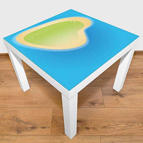 Playmatt Tapis de Jeu pour Table ou Sol « Grande île » - sans substances nocives - Antidérapant - Lavable - 55 x 55 cm - Convient Parfaitement à la Table IKEA
