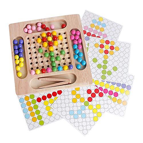 Almencla Montessori Educativo Clip de Madera Bead Juguetes de Aprendizaje Preescolar Niños Niñas