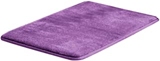 JMcall® Memory Bath Mat Anti Slip Bath Rug with Strong Absorbent Machine Washable Shower(Color:purple & Material:canvas)
