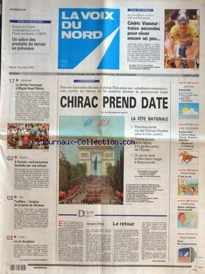 VOIX DU NORD (LA) [No 16508] du 15/07/1997 - LA FETE NATIONALE ET JACQUES CHIRAC - CHIRAC LE RETOUR...