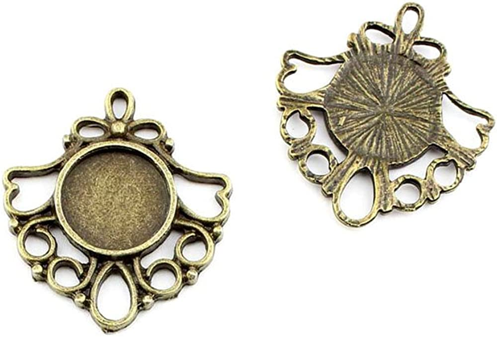 B53449 At the price of surprise Lace Round Setting Cabochon Antique Frame Ancient Discount is also underway Blanks